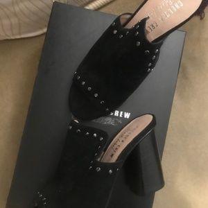 """Black Suede Mule 3"""" heel Size US 7"""